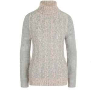 NWT Eleventy Wool Cashmere Sweater Cable Knit Gray